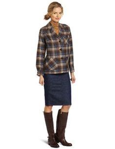 Pendleton Women's Petite Topster Jacket, Blue/Brown Plaid, Petite Pendleton. $89.00