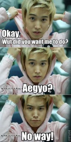 Sungmin is subconsciously (& eternally) in aegyo mode. ☺