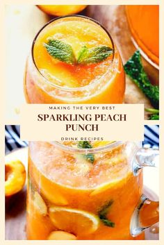 Find easy-to-make comfort food recipes like Healty recipes, dinner recipes and more recipes to make your fantastic food today. Easy Drink Recipes, Nut Recipes, Dinner Recipes, Peach Juice, Canned Peaches, Recipe Notes, Slushies, Healthy Drinks, Punch