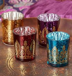 Arabian Nights Prom Favors Votive Candle Holder.  Also great as Indian and Moroccan wedding favors