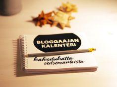 Bloggaajan kalenteri 2017 -arvonta