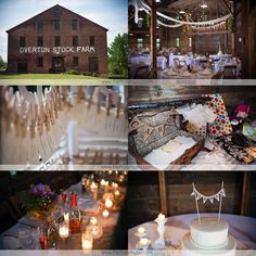 Wedding decor at West Overton, Scottdale, PA