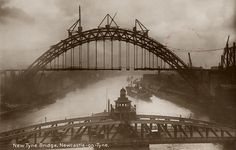 This is another from the collection of the building of the Tyne Bridge, that we selected the image for the play.. The images were commissioned by the contractor Dorman Long to record the construction of the bridge. The bridge was designed by Mott Hay and Anderson with R. Burns Dick as the architect and was built between 1925 and 1928.