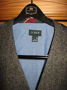 J. Crew grey herringbone wool vest in my Ebay store