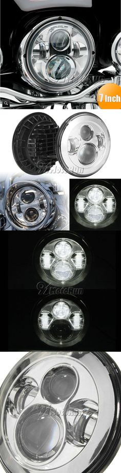motorcycle parts: 7 Chrome Projector Daymaker Led Headlight For Harley Softail Springer Heritage BUY IT NOW ONLY: $56.95