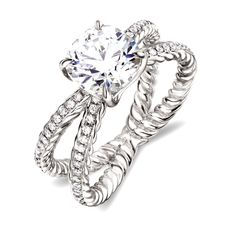david yurman crossover collection engagement ring.