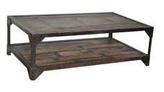 Znalezione obrazy dla zapytania steel coffee table