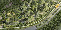 """广西柳州市""""森林城""""委托意大利设计师博埃里设计,将在2018年动工并于两年后竣工。"""