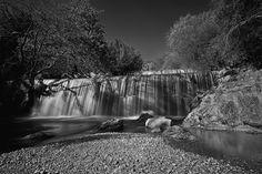 Waterfall b/w