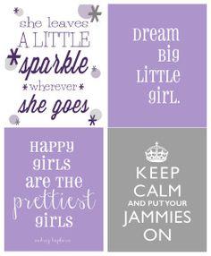 4 frames.... add a little glitter! Little girl's room?! :)