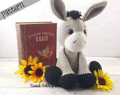 donkey crochet pattern, crochet donkey, donkey, donkey doll, donkey toy