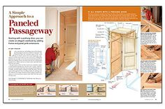 A Simple Approach to a Paneled Passageway