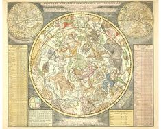 Giclee fine art print from antique celestial map of the northern hemisphere. 11x14 or 16x20 or 20x24 or 24x30 with 1/4 inch internal border. Somerset Velvet paper and archival pigment inks. No additional shipping cost for multiple items. Please note that irregular sized images