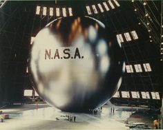 """""""the most beautiful object ever put into space"""" the 100ft diameter Echo balloon was one of NASA's inaugural projects, 1960"""