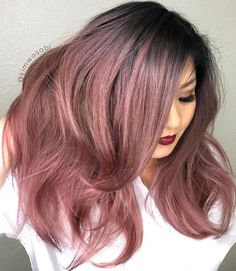 Holy Metallics! Rose Gold color and big hair by @kimwasabi .