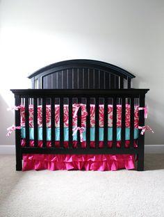 Custom Baby bedding - Hot Pink Baby Girl Bedding