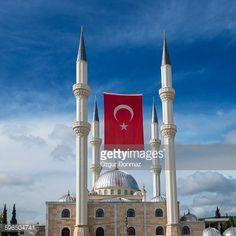 Korkuteli Cayirli Camii With Turkish Flag, Korkueli, Antalya,... #korkuteli: Korkuteli Cayirli Camii With Turkish Flag,… #korkuteli