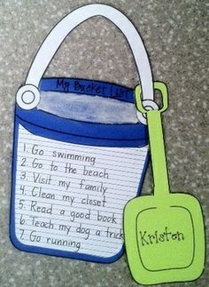 Have your students write out their summer bucket list before they end their school year