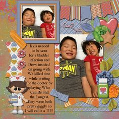 Layout using {Doctors Orders} Digital Scrapbook Kit by BoomersGirl Designs http://store.gingerscraps.net/Doctors-Orders.html and {Picture Perfect 28} Digital Scrapbook Template http://store.gingerscraps.net/Picture-Perfect-28.html by Aprilisa Designs