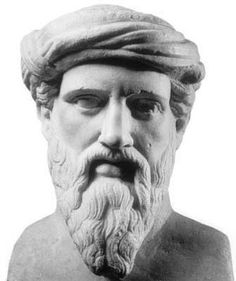 """Pythagoras ~ Pythagoras calls three the perfect number, expressive of """"beginning, middle, and end,"""" wherefore he makes it a symbol of Deity. The world was supposed to be under the rule of three gods, viz. Jupiter (heaven), Neptune (sea), and Pluto (Hades)."""