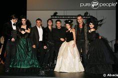La troupe de Mozart, l'Opéra Rock avec Dove Attia et Albert Cohen au théâtre Marigny, le 23 mars 2009. Melissa Mars © PurePeople