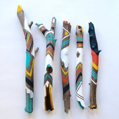 Painted Sticks /// Spirit Sticks by JackReedLA on Etsy, $25.00