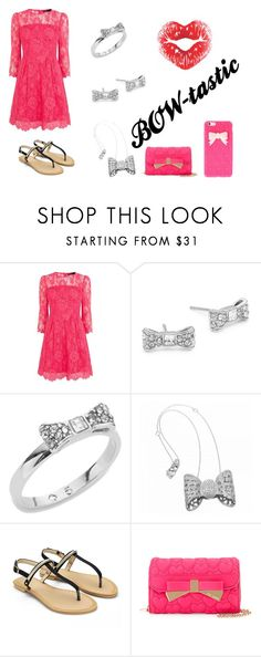 """""""bows!"""" by lexee-kimber on Polyvore featuring Karen Millen, Kate Spade, Pasquale Bruni and Betsey Johnson"""