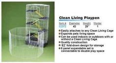 Cages and Enclosure 63108: Ware Manufacturing Canvas 8-Panel Clean Living Small Pet Playpen Cage, Large, BUY IT NOW ONLY: $47.09