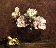- Roses de Nice (Henri Fantin-Latour - )
