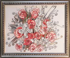 Купить «Коралловые розы» декоративная картина - коралловый, картина для интерьера, картина для кухни, картина для спальни