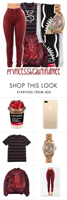 """""""found it in my drafts"""" by prvncessbeautifulmee on Polyvore featuring Brixton, Rolex and Vans"""