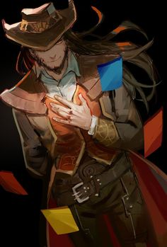 Twisted Fate【League of Legends】 League Of Legends Game, League Of Legends Characters, Dnd Characters, Character Creation, Character Concept, Character Design, Lol Champions, League Memes, Twisted Fate