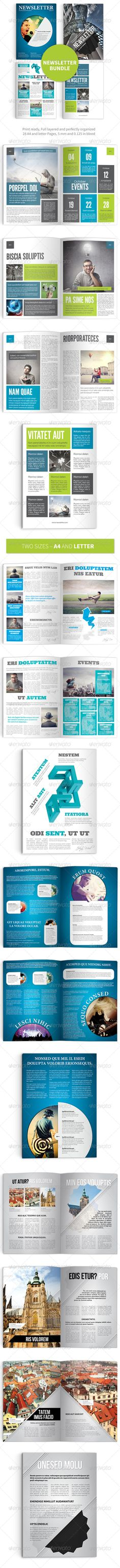 Modern Business Newsletter Template A4 Newsletter templates - business newsletter