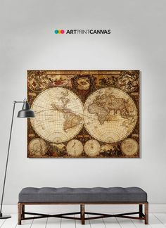 Large world map vintage style map map poster world map vintage large world map vintage style map map poster world map vintage gumiabroncs Choice Image