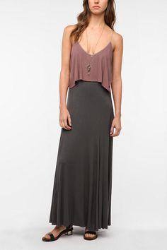 Gorgeous! Ecote Sand Art Maxi Dress