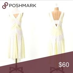 """Anthropologie Leifnotes SOUTHERN EXPOSURE dress 4 Only worn once... Size 4..A soft pear hue casts a quiet glow over the flowy high-low silhouette of LeifNotes' frock.  Size zip  Viscose; polyester lining  Hand wash  43""""L Anthropologie Dresses"""