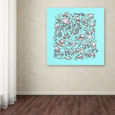 Trademark Fine Art Lovely Little Animals Canvas Art by Carla Martell, Size: 24 x 24, Multicolor