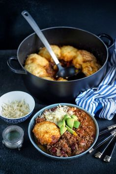 Beef Chili with Cornbread Dumplings   Really nice recipes. Every hour.