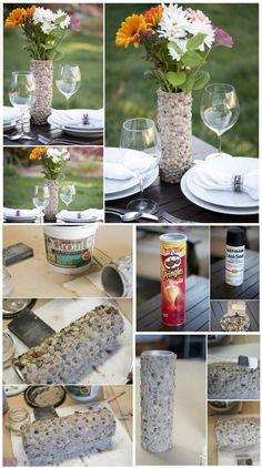 DIY Stone Vase is part of Diy vase - DIY stone vase, made to amaze, DIY beautiful vase ideas and projects! Easy Home Decor, Diy Home Crafts, Diy Crafts To Sell, Diy Crafts For Kids, Concrete Crafts, Creation Deco, Easy Craft Projects, Stone Crafts, Diy Centerpieces