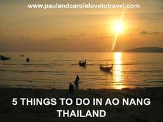 5 things to do in Ao Nang Thailand - some ideas when you visit #aonang #thailand #krabi