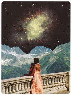 Handmade collage, 16 x 22cm.  Original for sale.  bene rohlmann