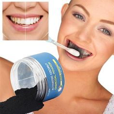Natural Activated Coconut Charcoal Teeth Whitening Powder, Toothpaste.