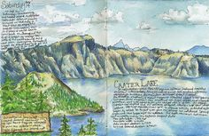 Memories of the Oregon Coast trip | I remember it always had snow & was cold at Crater Lake