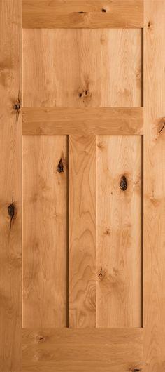 Knotty Alder 3-Panel Craftsman Shaker Krosswood™ Alder Doors Profile