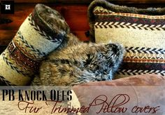 Love sweater and fur pillow covers. From thrift shopping for a sweater and faux fur. It's a Pottery Barn Knockoff ! Sweater Pillow, Fur Pillow, Diy Home Crafts, Arts And Crafts, Craft Fur, Diy Pillows, Craft Items, Fur Trim, Knock Knock