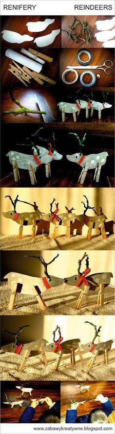 Zabawy kreatywne: Renifery