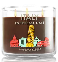 Bath and Body Works Italy Espresso Cafe Scented Candle 3 Wick 14.5 Oz Destination Limited Edition 2015 *** Read more reviews of the product by visiting the link on the image.
