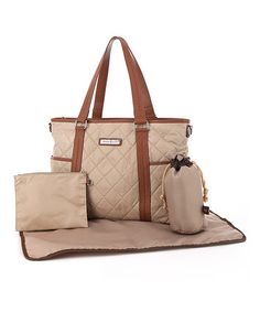 Take a look at this Cream Danah Diaper Bag by Perry Mackin on #zulily today!