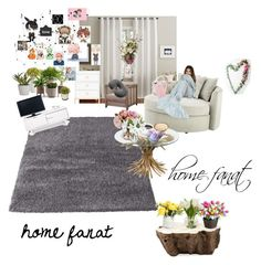 """home"" by raxmatovau on Polyvore featuring interior, interiors, interior design, home, home decor, interior decorating, Pottery Barn, Eichholtz, Palecek and Improvements"