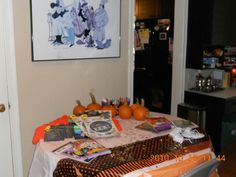 Halloween craft table for kids